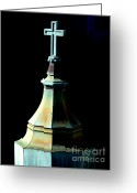 Churches Photo Greeting Cards - The Holy Cross 3 Greeting Card by Wingsdomain Art and Photography