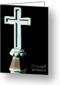 Churches Photo Greeting Cards - The Holy Cross Greeting Card by Wingsdomain Art and Photography