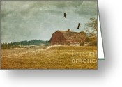 Barn Mixed Media Greeting Cards - The Homecoming Greeting Card by Reflective Moments  Photography and Digital Art Images