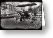 Horse And Buggy Greeting Cards - The Homestead Carriage I Greeting Card by Steven Ainsworth