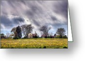 Fauquier County Greeting Cards - The Homestead Greeting Card by JC Findley
