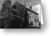 Log Cabins Photo Greeting Cards - The Homestead Greeting Card by Richard Rizzo