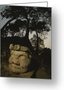 Pre Columbian Antiquities And Artifacts Greeting Cards - The Honduran Sun Setting Greeting Card by Kenneth Garrett