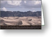 Desolate Landscapes Greeting Cards - The Hongorin Els Dunes In The Gobi Greeting Card by Dean Conger