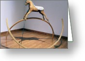 Horse Sculpture Greeting Cards - The Horse Greeting Card by Mihaela Nicolcioiu-Savu