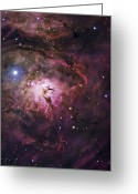 H Ii Regions Greeting Cards - The Hourglass Nebula Greeting Card by Robert Gendler