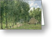 Pisarro Greeting Cards - The House in the Forest Greeting Card by Camille Pissarro