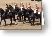 Five People Greeting Cards - The Household Cavalry Performs Greeting Card by Andrew Chittock