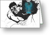 The Hulk Greeting Cards - The Hulk 2 Greeting Card by Hossam Fox