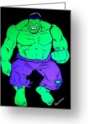 The Hulk Greeting Cards - The Hulk Greeting Card by Grace Sivels