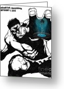 The Hulk Greeting Cards - The Hulk Greeting Card by Hossam Fox