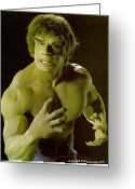 Green Monster Greeting Cards - The HULK  Greeting Card by Jake Hartz