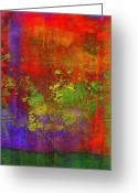 Color Tapestries - Textiles Greeting Cards - The Human Spirit Greeting Card by Angela L Walker