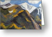 Colorado Greeting Cards Greeting Cards - The Hunt on Mount Antero Buena Vista Colorado Greeting Card by Zanobia Shalks