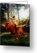 Elements Greeting Cards - The Hunter Greeting Card by Karen Koski