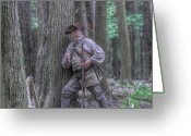 Defeat Greeting Cards - The Hunter Greeting Card by Randy Steele
