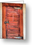 Alexandria Greeting Cards - The Ice House Door Greeting Card by JC Findley