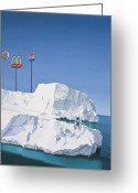 Ice Painting Greeting Cards - The Iceberg Greeting Card by Scott Listfield