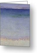 Pointillist Painting Greeting Cards - The Iles dOr Greeting Card by Henri Edmond Cross
