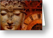 Clock Art Greeting Cards - The Illusion of Time Greeting Card by Christopher Beikmann