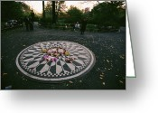 Central Park Greeting Cards - The Imagine Mosaic, A Memorial To John Greeting Card by Melissa Farlow