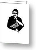 T Shirts Greeting Cards - The Inbetweeners -  Briefcase Wanker Greeting Card by Paul Telling