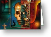 Pieces Greeting Cards - The Inconceivability Of The Being Greeting Card by Franziskus Pfleghart