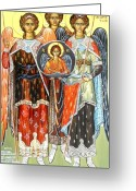 Byzantine Greeting Cards - The Incorporeals meeting  Greeting Card by George Siaba