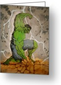 The Hulk Greeting Cards - The Incredible Hulk Greeting Card by Lee  Ah yen