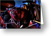 V Twin Greeting Cards - The Indian Motorcycle  Greeting Card by David Patterson