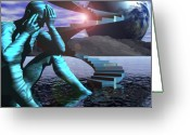 Jungian Greeting Cards - The Inner Transformation of the Psychic Path Greeting Card by Jon Gemma In Your Living Room