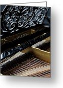 Inside Of Greeting Cards - The Inside Of A Piano Greeting Card by Studio Blond