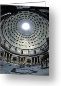 Latium Region Greeting Cards - The Interior Of The Pantheon Greeting Card by Richard Nowitz