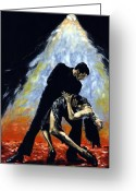Lovers Embrace Greeting Cards - The Intoxication of Tango Greeting Card by Richard Young
