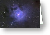 Interstellar Clouds Photo Greeting Cards - The Iris Nebula Greeting Card by Ken Crawford