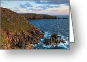 Sennen Greeting Cards - The Irish lady at sunset Greeting Card by Richard Thomas