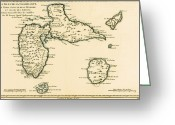 Peninsular Greeting Cards - The Islands of Guadeloupe Greeting Card by Guillaume Raynal