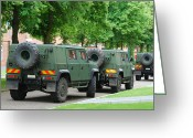 Belgian Army Greeting Cards - The Iveco Lmv Of The Belgian Army Greeting Card by Luc De Jaeger