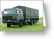Belgian Army Greeting Cards - The Iveco M250 Used By The Belgian Army Greeting Card by Luc De Jaeger