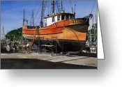Fishing Boat Greeting Cards - The Jeanette Greeting Card by James Robertson