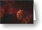 H Ii Regions Greeting Cards - The Jellyfish Nebula Greeting Card by Rolf Geissinger