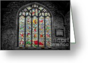 Graveyard Digital Art Greeting Cards - The Jesse Window  Greeting Card by Adrian Evans