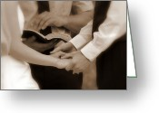 Marry Greeting Cards - The Joining of Hands Greeting Card by Cindy Wright