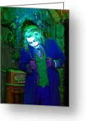 Decoration And Ornament Greeting Cards - The Joker, At 13 Ghosts, Americas Greeting Card by Steve And Donna O