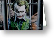 Batman Greeting Cards - The Joker Greeting Card by Lounis Production