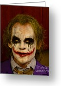 Tv Show Greeting Cards - THE JOKER - Why so serious Greeting Card by Paul Ward