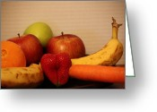 Mango Greeting Cards - The Joy of Fruit At Supper Greeting Card by Andrea Nicosia