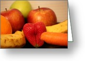 Mango Greeting Cards - The Joy of Fruit In The Morning Greeting Card by Andrea Nicosia