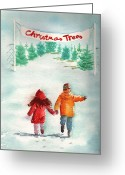 Selecting Greeting Cards - The Joy of Selecting a Christmas Tree Greeting Card by Sharon Mick