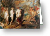 Rubens Painting Greeting Cards - The Judgement of Paris Greeting Card by Sir Peter Paul Rubens